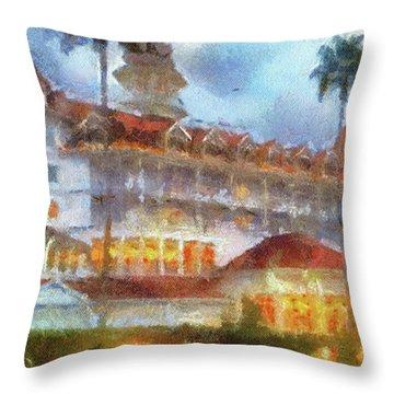 The Grand Floridian Resort Wdw 01 Photo Art Mp Throw Pillow