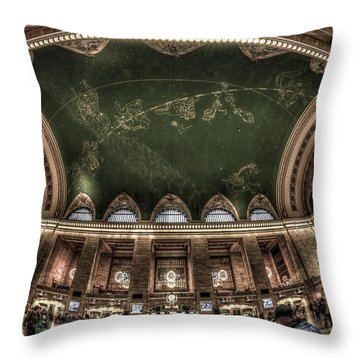 Throw Pillow featuring the photograph The Grand Grand Central Terminal by Rafael Quirindongo