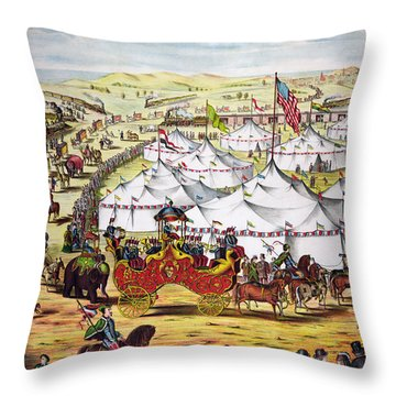 The Grand Layout, Chromolithograph 1874 Throw Pillow