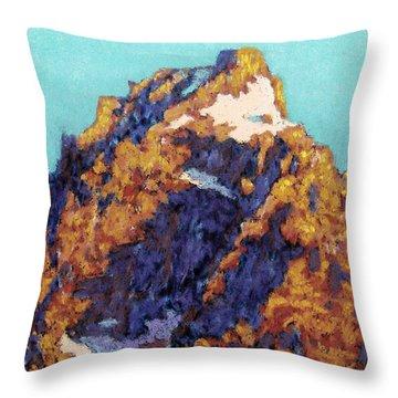 The Grand Teton Throw Pillow by Abbie Groves