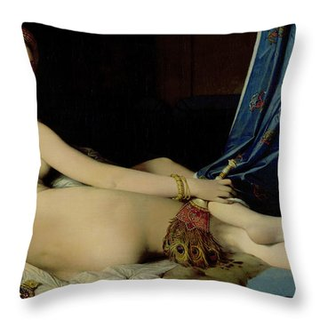 The Grande Odalisque Throw Pillow by Ingres