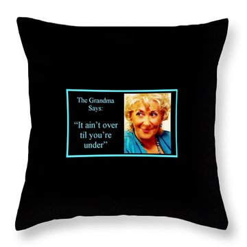 The Grandma Over And Under Throw Pillow