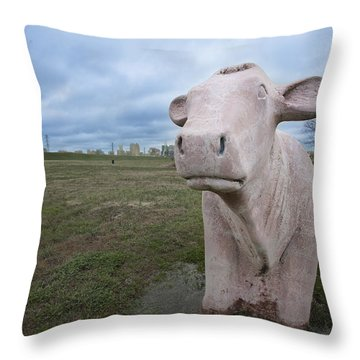 The Granite Cow Throw Pillow