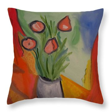 The Gray Vase Throw Pillow