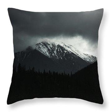Turbulence Over Torreys Throw Pillow