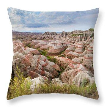 Deep And Wide Panorama Throw Pillow