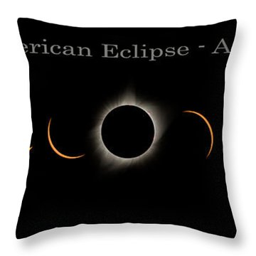 The Great American Eclipse Of 2017 Throw Pillow