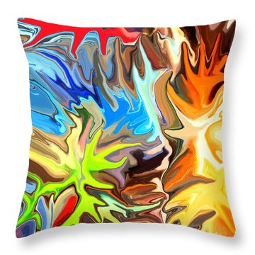 The Great Barrier Reef II Throw Pillow by Chris Butler