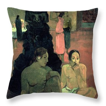 The Great Buddha Throw Pillow by Paul Gauguin