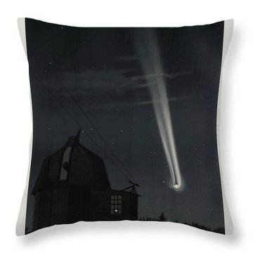 The Great Comet Of 1881, Antique Illustration Throw Pillow