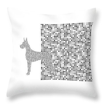The Great Dane Black And White Throw Pillow