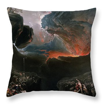 The Great Day Of His Wrath Throw Pillow by Charles Mottram