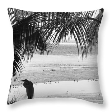 Watching The Tide Throw Pillow