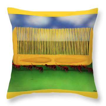 The Great Escape Throw Pillow by Thomas Blood