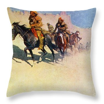 The Great Explorers Throw Pillow by Frederic Remington