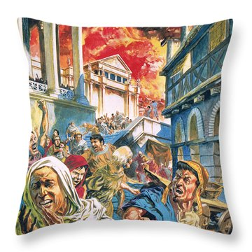 The Great Fire Of Rome Throw Pillow