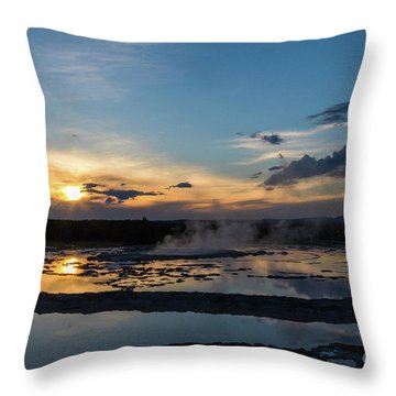 The Great Fountain Geyser Throw Pillow