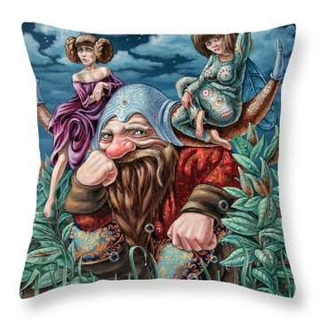 The Great Horns Throw Pillow