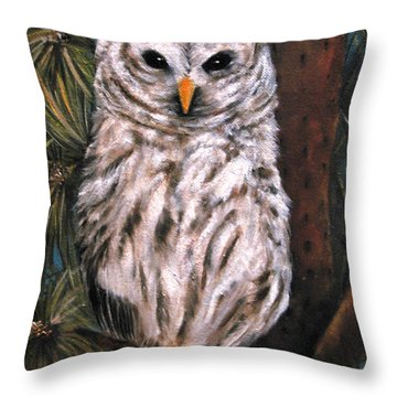 The Great Hunter Throw Pillow by Carol Sweetwood