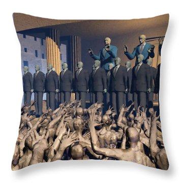 The Great Mud Revolt Throw Pillow