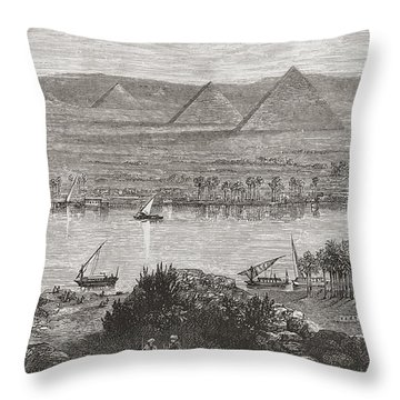 The Great Pyramids Of Giza, Egypt From Throw Pillow
