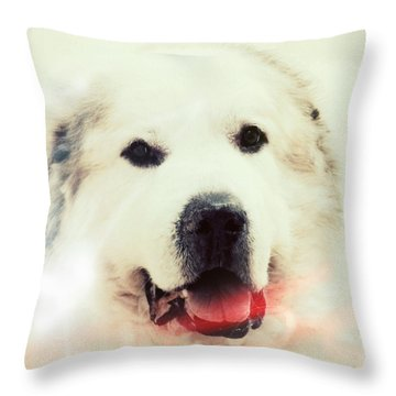 The Great Pyrenean Throw Pillow