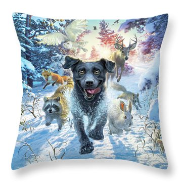 The Great Race Throw Pillow