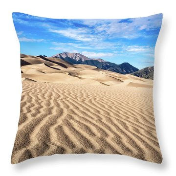 The Great Sand Dunes Of Colorado Throw Pillow