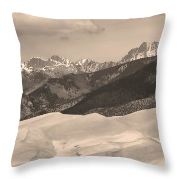 The Great Sand Dunes Sepia Print 45 Throw Pillow by James BO  Insogna