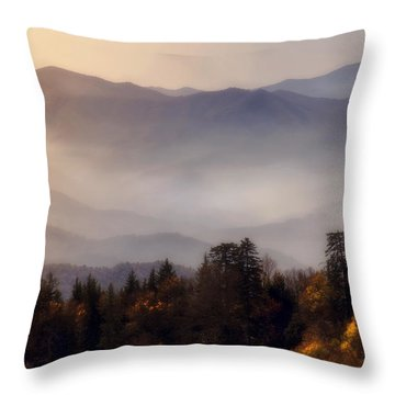 Throw Pillow featuring the photograph The Great Smoky Mountains by Ellen Heaverlo