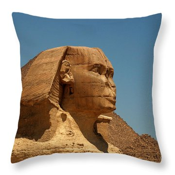 The Great Sphinx Of Giza Throw Pillow