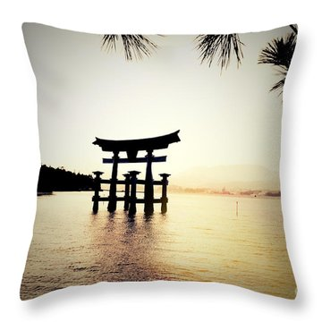 The Great Torii  Throw Pillow