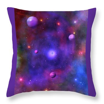 Throw Pillow featuring the digital art The Great Unknown by Bernd Hau