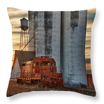 The Great Western Sugar Mill Longmont Colorado Throw Pillow