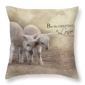 Throw Pillow featuring the photograph The Greatest Is Love by Robin-Lee Vieira