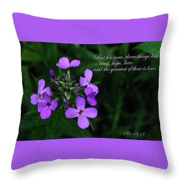 Throw Pillow featuring the photograph The Greatest Is Love by Tikvah's Hope