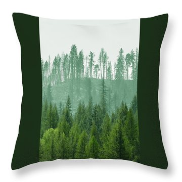 The Green And The Not So Green Throw Pillow
