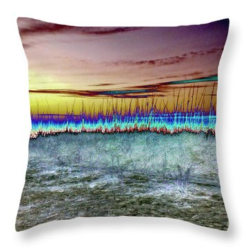 The Green Flash Throw Pillow