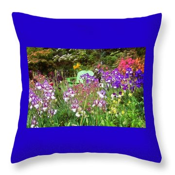 Throw Pillow featuring the photograph Hiding In The Garden by Thom Zehrfeld