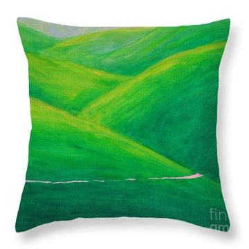 The Green Green Hills Of Paso Robles Throw Pillow