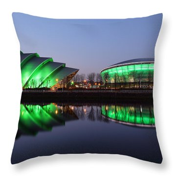 Throw Pillow featuring the photograph The Green Hour by Grant Glendinning