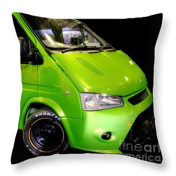 The Green Machine Throw Pillow by Vicki Spindler