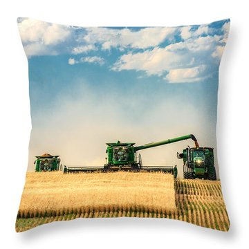 The Green Machines Throw Pillow