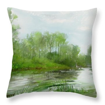 The Green Magic Of Ordinary Days Throw Pillow