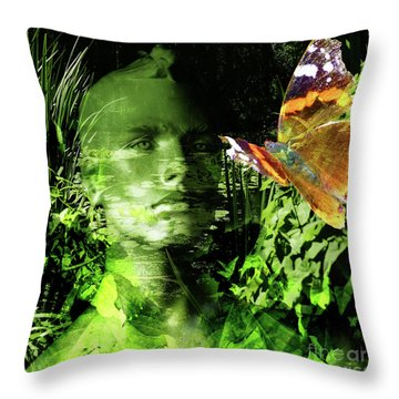 Throw Pillow featuring the photograph The Green Man by LemonArt Photography