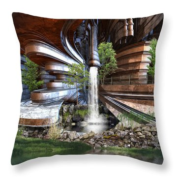 The Green Project Throw Pillow