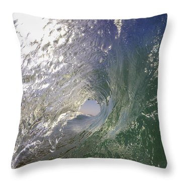 Throw Pillow featuring the photograph The Green Room by Sean Foster