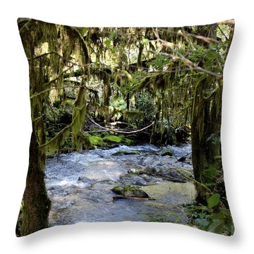 The Green Seen Throw Pillow by Marie Neder