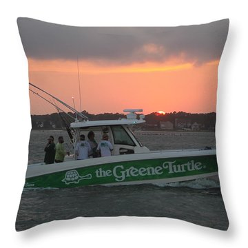 The Greene Turtle Power Boat Throw Pillow
