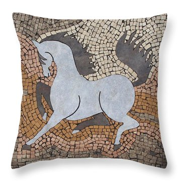 The Grey In Profile Throw Pillow by Katherine Sutcliffe